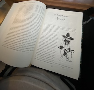 Book resting on Mini Connect